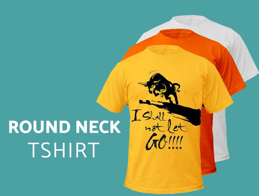 Custom Printing Round Neck T-Shirt